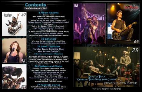 Augsut 2014 Vandala Magazine Contents