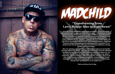 Madchild September Vandala Magazine