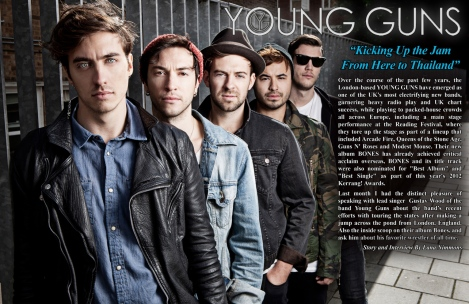 Young Guns Interview - July 2013 Vandala Magazine