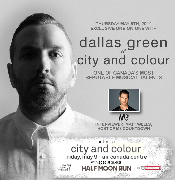 exclusive one on one with dallas green of city and colour at canadian music week 2014 vandala. Black Bedroom Furniture Sets. Home Design Ideas