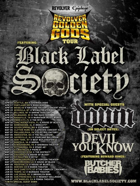 Black Label Society God Tour
