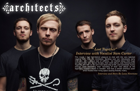 "The Architects ""Lost Together"" Interview with Vocalist Sam Carter"