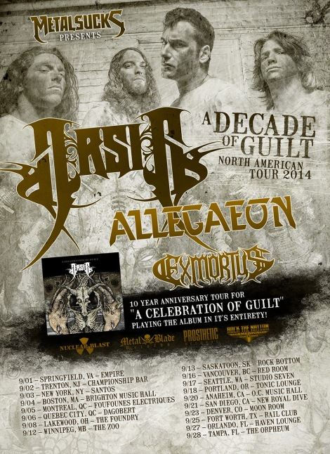 A Decade of Guilt Tour 2014