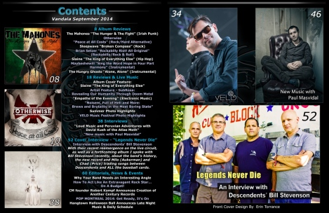 Contents September 2014 Vandala Magazine