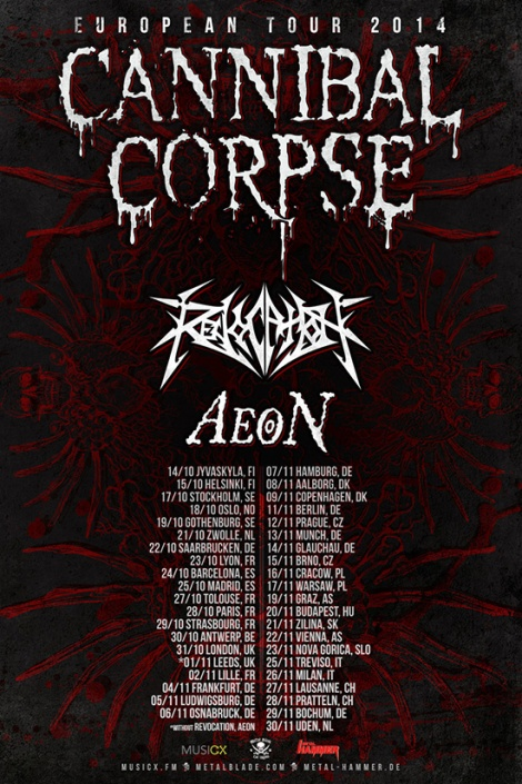 Cannibal Corpse Europe-2014