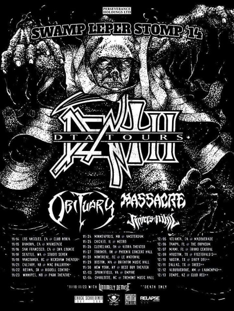 MASSACRE North American and European tours with DEATH TO ALL