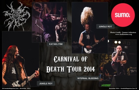 Carnival of Death Tour 2014, Edmonton, Alberta at the Starlite Room (From November 2014 Vandala-Magazine)