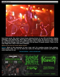 Interview with Voivod - December 2014 Vandala