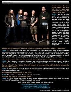 Interview with King Parrot - December 2014 Vandala