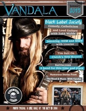 January 2015 Vandala Magazine – Zakk Wylde, Battlecross, Photo Special, Best of 2014 and More
