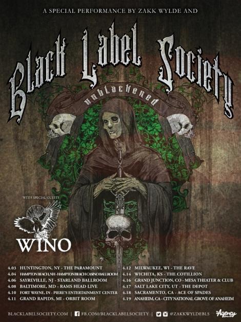Black Label Society Tour 2015