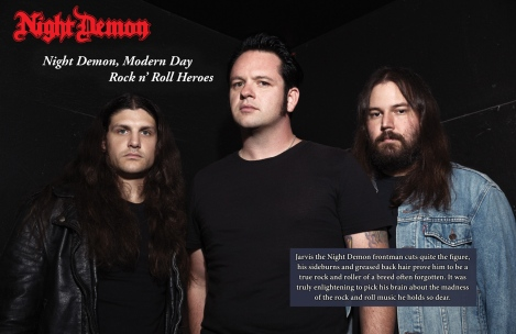 Night Demon Interview from February 2015 Vandala Magazine