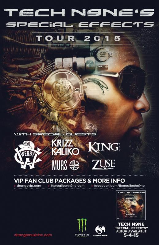 TECH N9NE Embarks on Special Effects Tour 2015 – Joined By