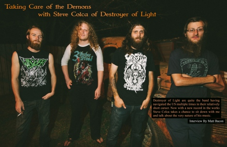 July 2015 Vandala Magazine Taking Care of the Demons with Steve Colca of Destroyer of Light