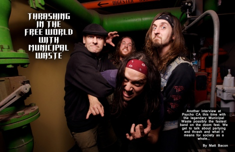 July 2015 Vandala Magazine - Thrashing in the Free World with Municipal Waste