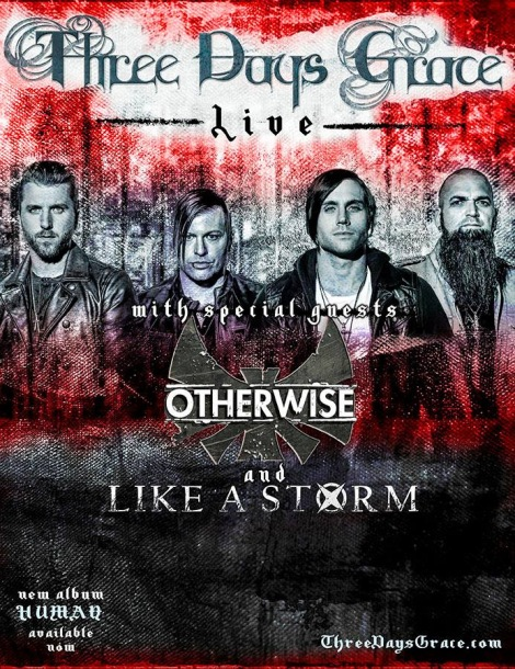 Otherwise Three days grace like a storm