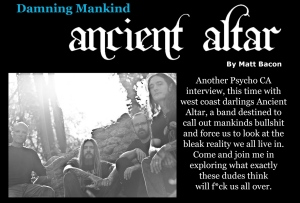 August 2015 Vandala Magazine - Ancient Altar Interview