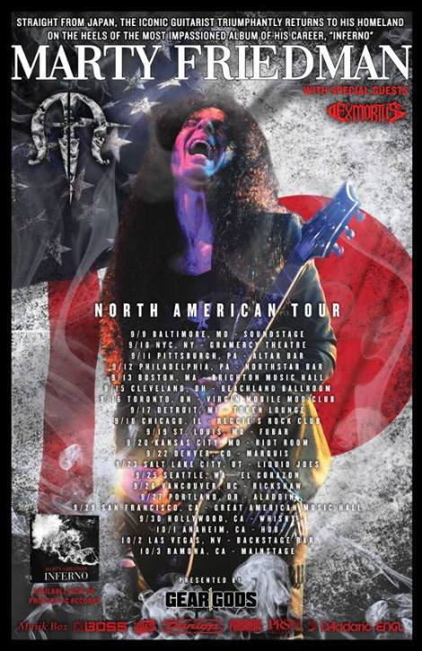 Marty Friedman Norht American Tour