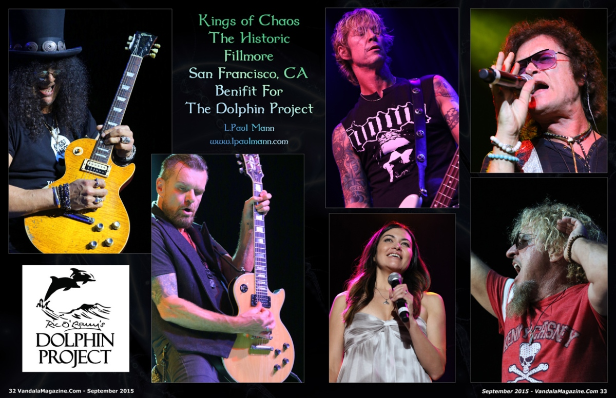 photo highlights kings of chaos at benefit for the dolphin project vandala magazine. Black Bedroom Furniture Sets. Home Design Ideas