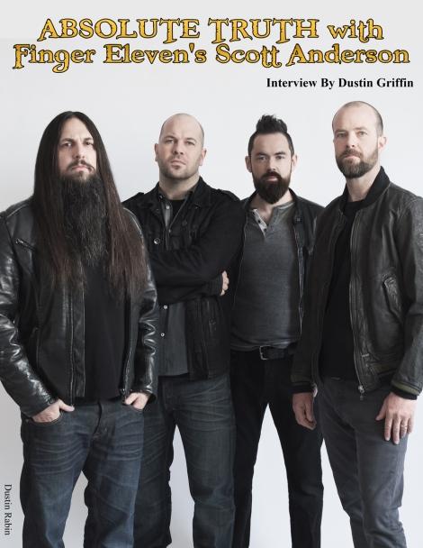October 2015 Vandala Magazine Finger Eleven Interview