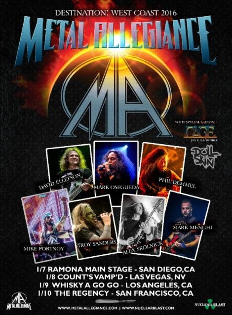 METAL ALLEGIANCE West Coast Tour