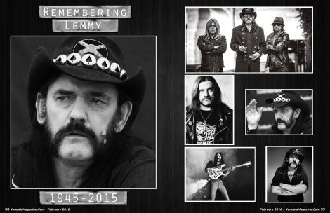 February 2016 Vandala Magazine Lemmy Tribute