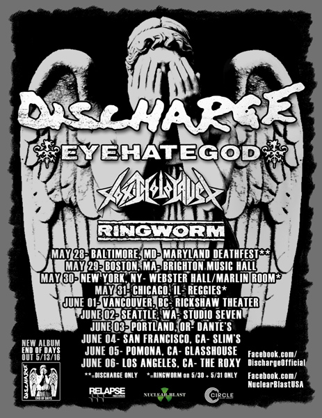 Discharge-tour-dates