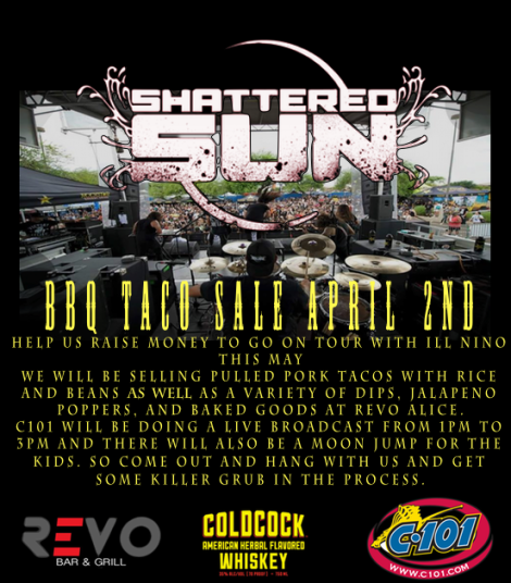 Shattered Sun to Host BBQ Taco Tour Fundraiser,