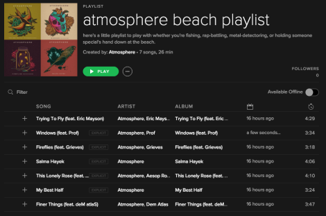 New Atmosphere playlist