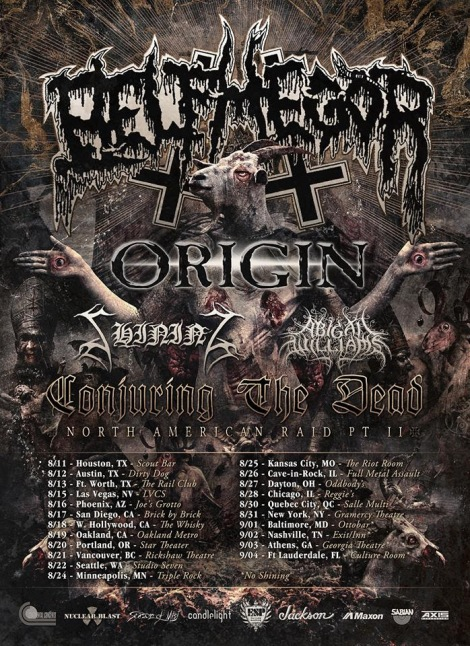 ABIGAIL WILLIAMS Tour With Belphegor, Origin, And Shining