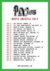 Pixies North American Tour 2017