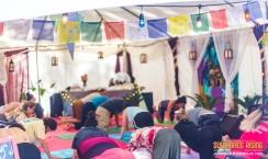 Sanctuary tent yoga Suwannee Rising 2019